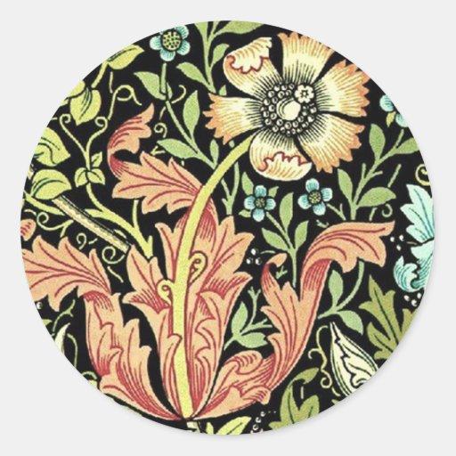 Vintage Floral Wallpaper Stickers