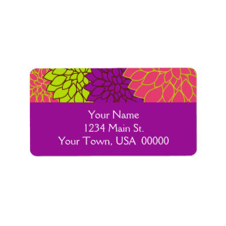 Vintage Floral Wallpapper Address Label