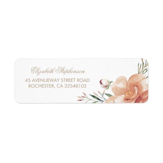 Vintage Floral Watercolors Wedding Return Address Label