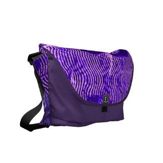 Vintage Floral Waves Purple Messenger Bag