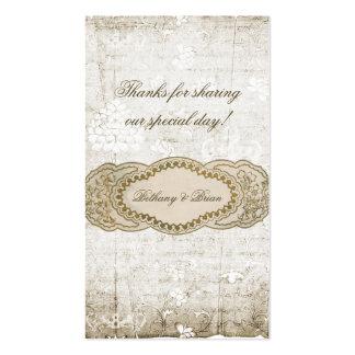 Vintage Floral Wedding Favor Gift Tags Pack Of Standard Business Cards