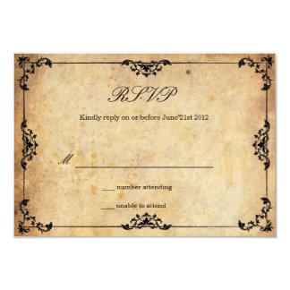Vintage Floral Wedding RSVP Card 9 Cm X 13 Cm Invitation Card