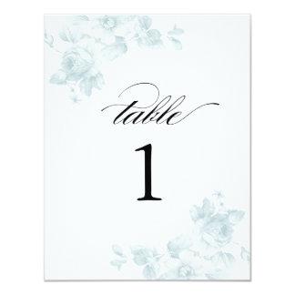 Vintage floral wedding | Table numbers 11 Cm X 14 Cm Invitation Card
