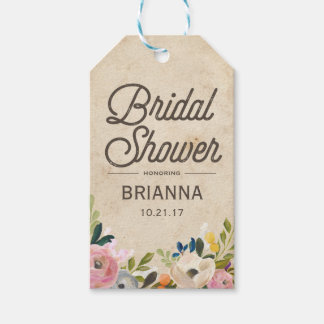 Vintage Florals | Bridal Shower Gift Tag