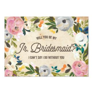 Vintage Florals | Junior Bridesmaid Card