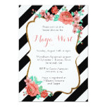 Vintage Florals with Glitter Invitations