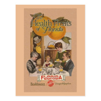 Vintage Florida Orange and Grapefruit Ad Post Card