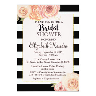 Vintage Flower Bridal Shower invitation