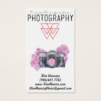 Vintage Flower camera Business Card