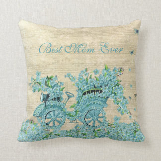 Vintage Flower Carriage - Best Mom Ever Cushion