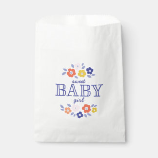 Vintage Flower Cascade Baby Shower Favour Bag