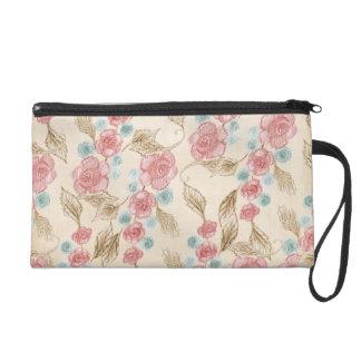 Vintage Flower Cosmetic Bag