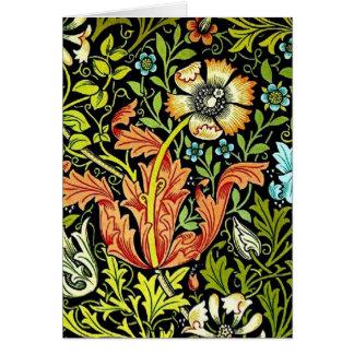 Vintage Flower Garden Design Card