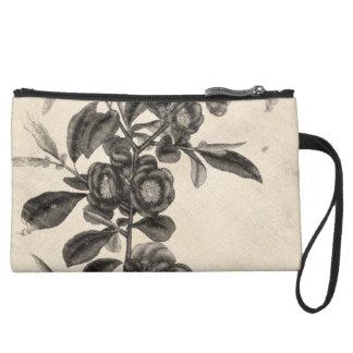 Vintage Flower Grunge Wristlet Purses