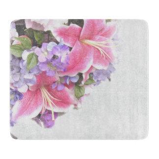 Vintage Flower Lily Cutting Board