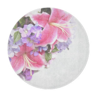 Vintage Flower Lily Cutting Boards