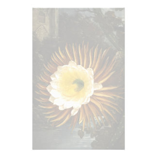 Vintage Flower Night-Blooming Cereus Thornton Personalized Stationery