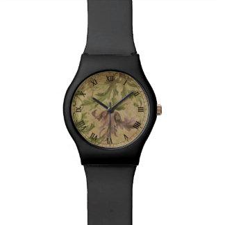 vintage flower old parchment renaissance watch