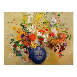 Vintage Flower Painting Postcard