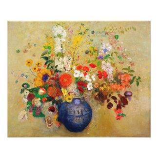 Vintage Flower Painting Print Photo