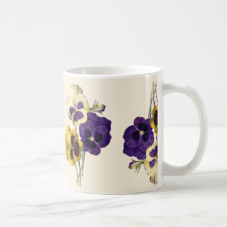 Vintage Flower Pansy Mug