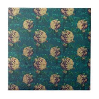 Vintage Flower Pattern Tile