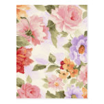 Vintage Flower Scenery Postcard
