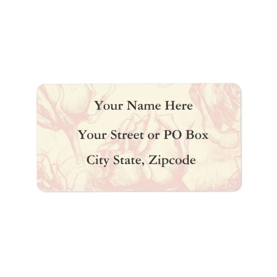 Vintage Flower Wedding Address Label