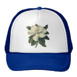 Vintage Flowers, Blooming White Magnolia Blossom Hats