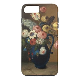 Vintage Flowers Blue Jug Art iPhone 7 Plus Case
