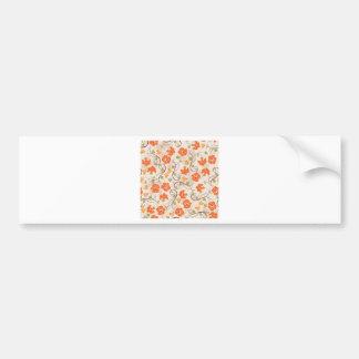 Vintage Flowers Bumper Sticker