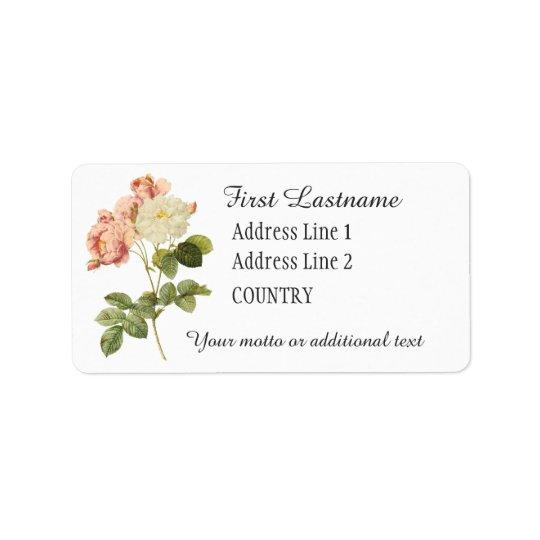 Vintage Flowers custom labels 2