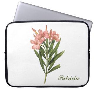 Vintage Flowers custom monogram laptop sleeves 3