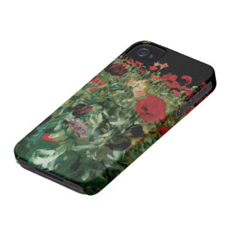 Vintage Flowers Floral Art, Poppies by Sargent iPhone 4 Case-Mate Cases