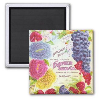 Vintage Flowers & Fruit Magnet