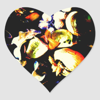 Vintage Flowers Heart Sticker
