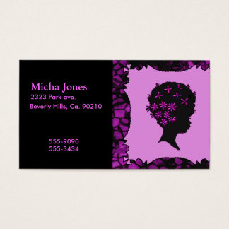 Vintage Flowers In Afro Business Card