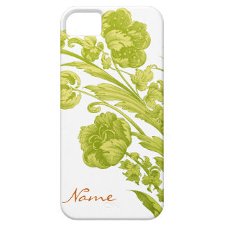 Vintage Flowers in Green and Yellow iPhone 5 Cover