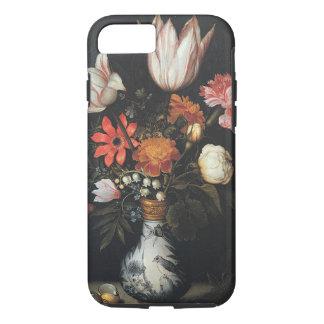 Vintage flowers in vase design iPhone 7 case