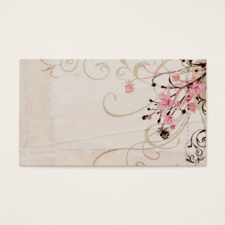 Vintage flowers Profile Card