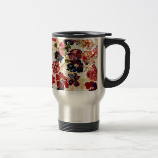 Vintage Flowers Travel Mug