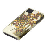 Vintage Flowers, Tropical Odontoglossum Orchid iPhone 4 Case