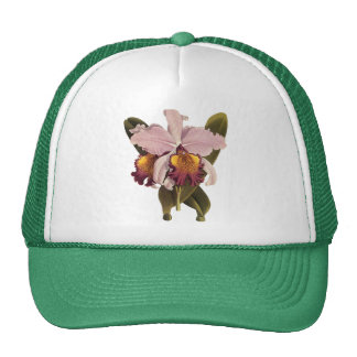 Vintage Flowers, Tropical Purple Cattleya Orchid Trucker Hat