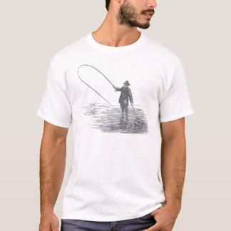 Vintage Fly Fishing Art T-Shirt