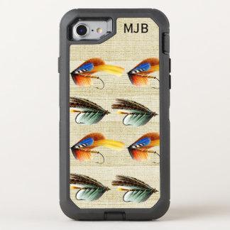 Vintage Fly Fishing Flies Monogrammed Premium OtterBox Defender iPhone 8/7 Case