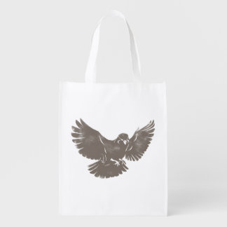 Vintage Flying Bird Reusable Grocery Bag