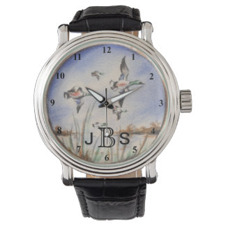 Vintage Flying Ducks | Masculine Monogram Watch