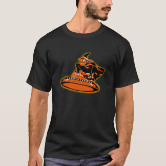 Vintage Flying Saucer Halloween Witch T-Shirt