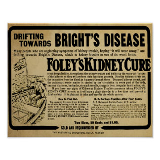 Vintage Foley's Kidney Cure Brights Disease Print