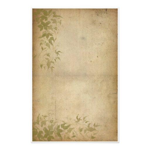 Vintage Foliage - Ivy Personalized Stationery